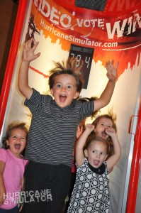 Kids enjoying the Hurricane Simulator.