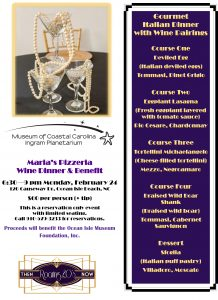 Special Event: Gourmet Italian Dinner with Wine Pairings @ Maria's Pizzeria & Bistro        